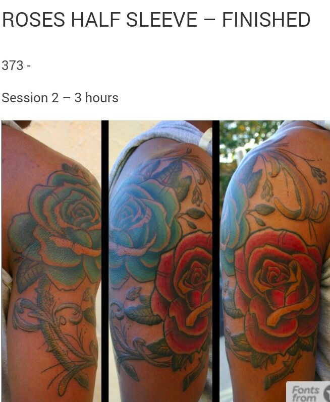 Color Tattoos On Black Skin Pictures