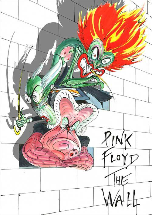 Pink Floyd the Wall Cartoons | Pink Floyd The Wall-album poster