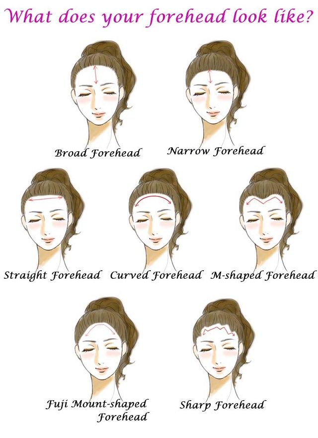 How Forehead Shapes Can Reveal Your Personality Alldaychic Forehead Face Shapes Eye Shapes