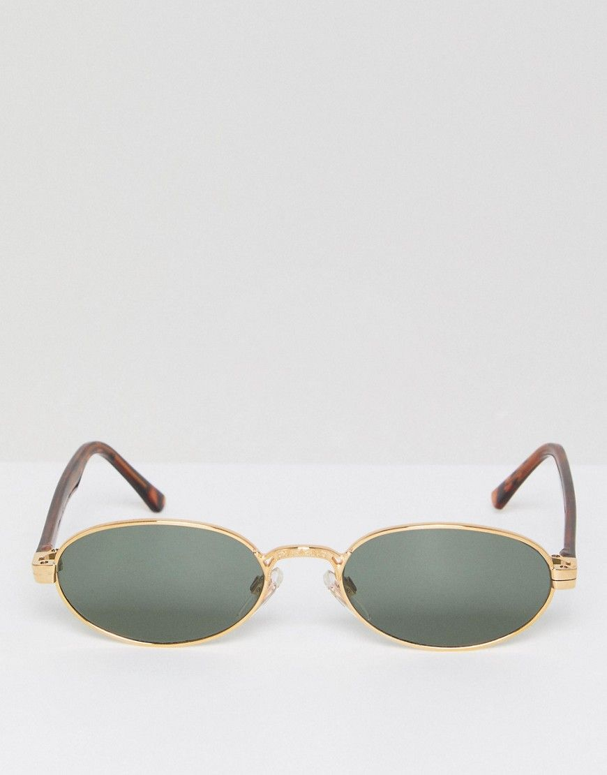 Reclaimed Exclusive Oval Vintage In Sunglasses Gold Asos To Inspired 8OPN0knwX