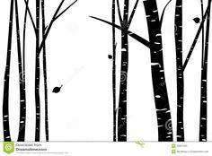birch tree vector birch grove with falling leaf silhouette by ma rh pinterest co uk birch tree vector art birch tree vector image