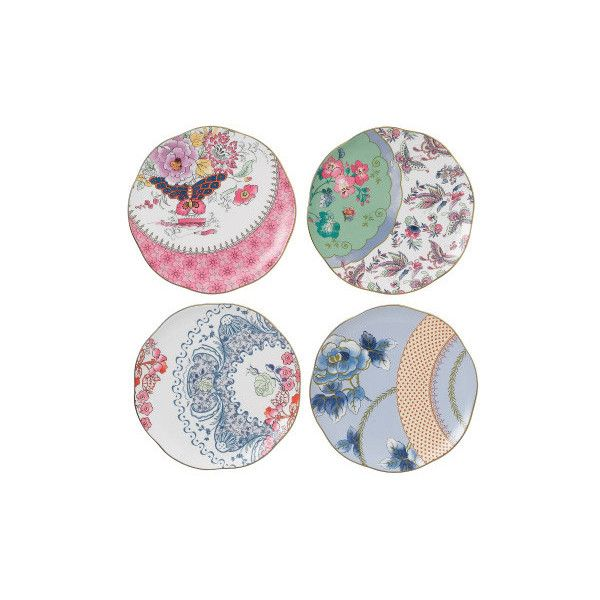 Butterfly Bloom Set of 4 Plates 20cm David Jones ? liked on Polyvore featuring home  sc 1 st  Pinterest & Butterfly Bloom Set of 4 Plates 20cm David Jones ? liked on ...