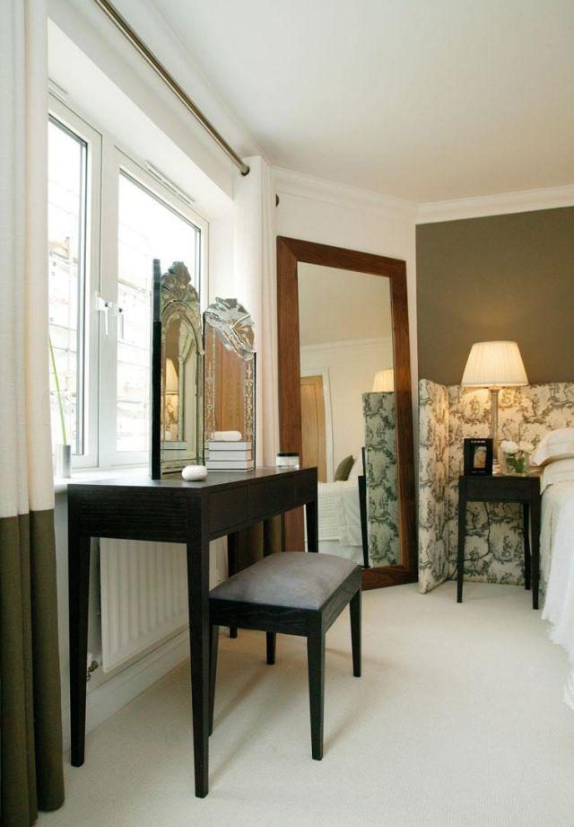 Design Schminktisch design schminktisch porchester holz schwarz spiegel hocker jan
