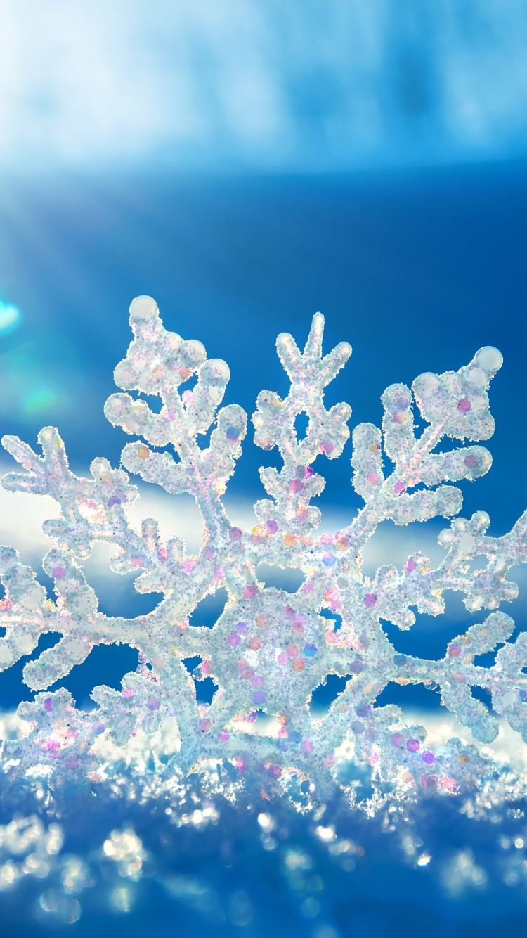 Download Wallpaper 750x1334 Snow, Snowflake, Winter iPhone 6 HD Background | Aa în 2019 | Winter ...
