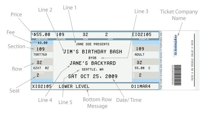 novelty custom printable ticket stub creator grad 2015 pinterest