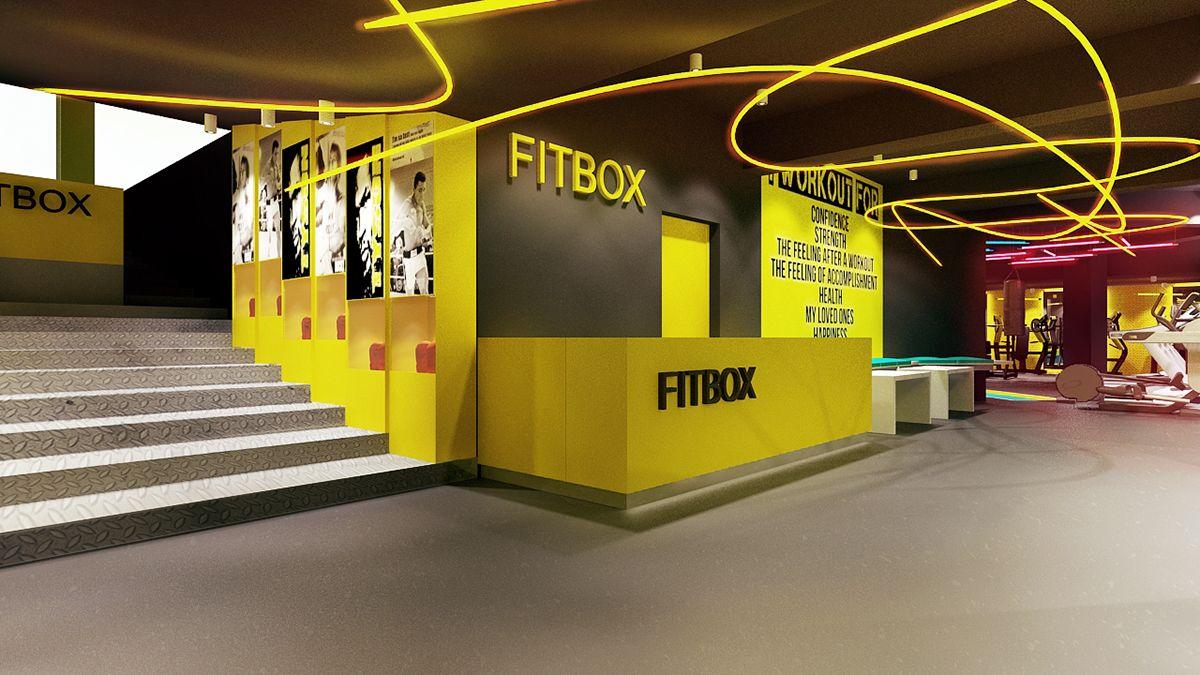 FITBOX l GYM on Behance | Спорт | Pinterest | Gym and Behance