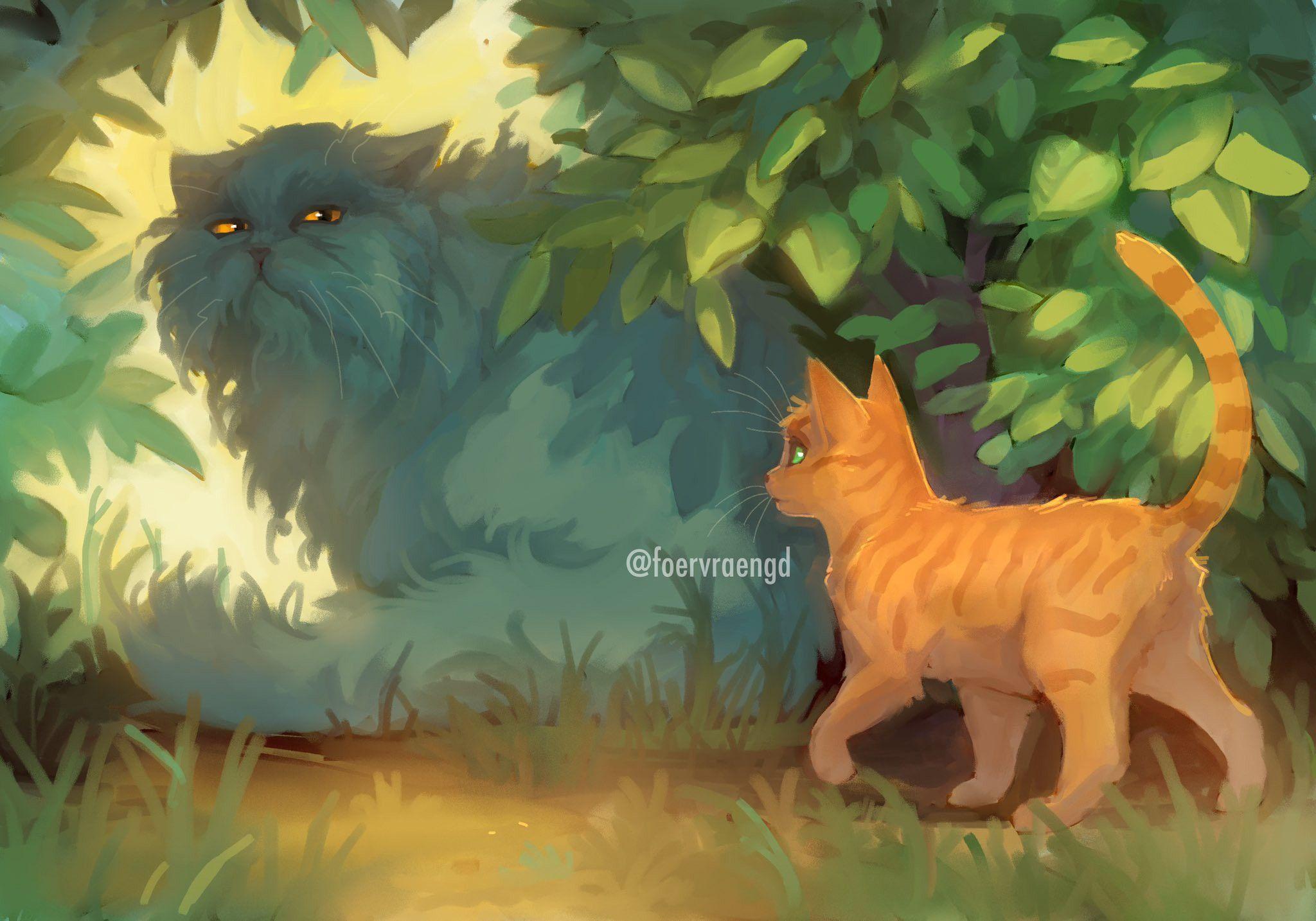 Yellowfang and Firepaw in 2020 Warrior cats comics