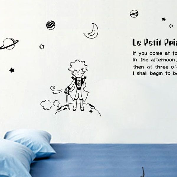 Buynsell4989 Le Petit Prince 2 Removable Nursery Kids Wall Sticker