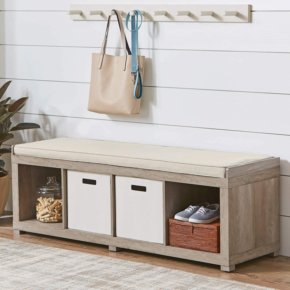 Free 2 Day Shipping Buy Better Homes And Gardens 4 Cube Organizer Storage Bench Multiple Finishes At Cube Storage Bench Storage Bench Entryway Bench Storage