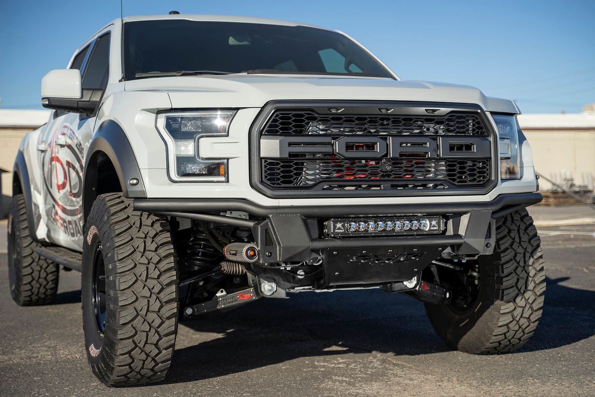 2017 2020 Ford Raptor Add Pro Bolt On Front Bumper Ford Raptor Ford Trucks F150 Built Ford Tough