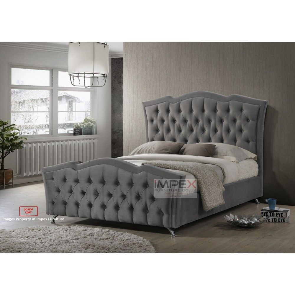 Gray Velvet Bed Frame Grey Bed Frame Velvet Bed Frame Master