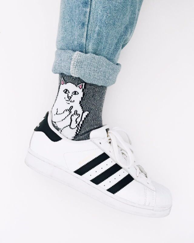 Middle finger cat socks