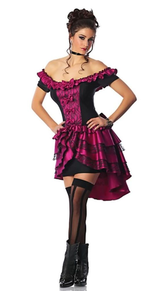 Wild West Showgirl Moulin Rouge Burlesque Can Can Dancer Saloon Girl