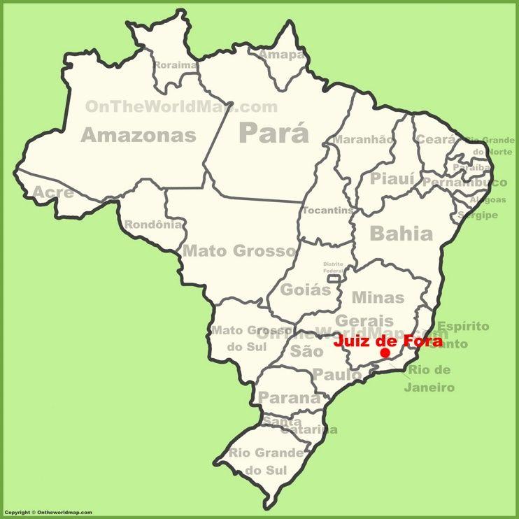 Juiz de fora location on the brazil map maps pinterest brazil juiz de fora location on the brazil map gumiabroncs Gallery