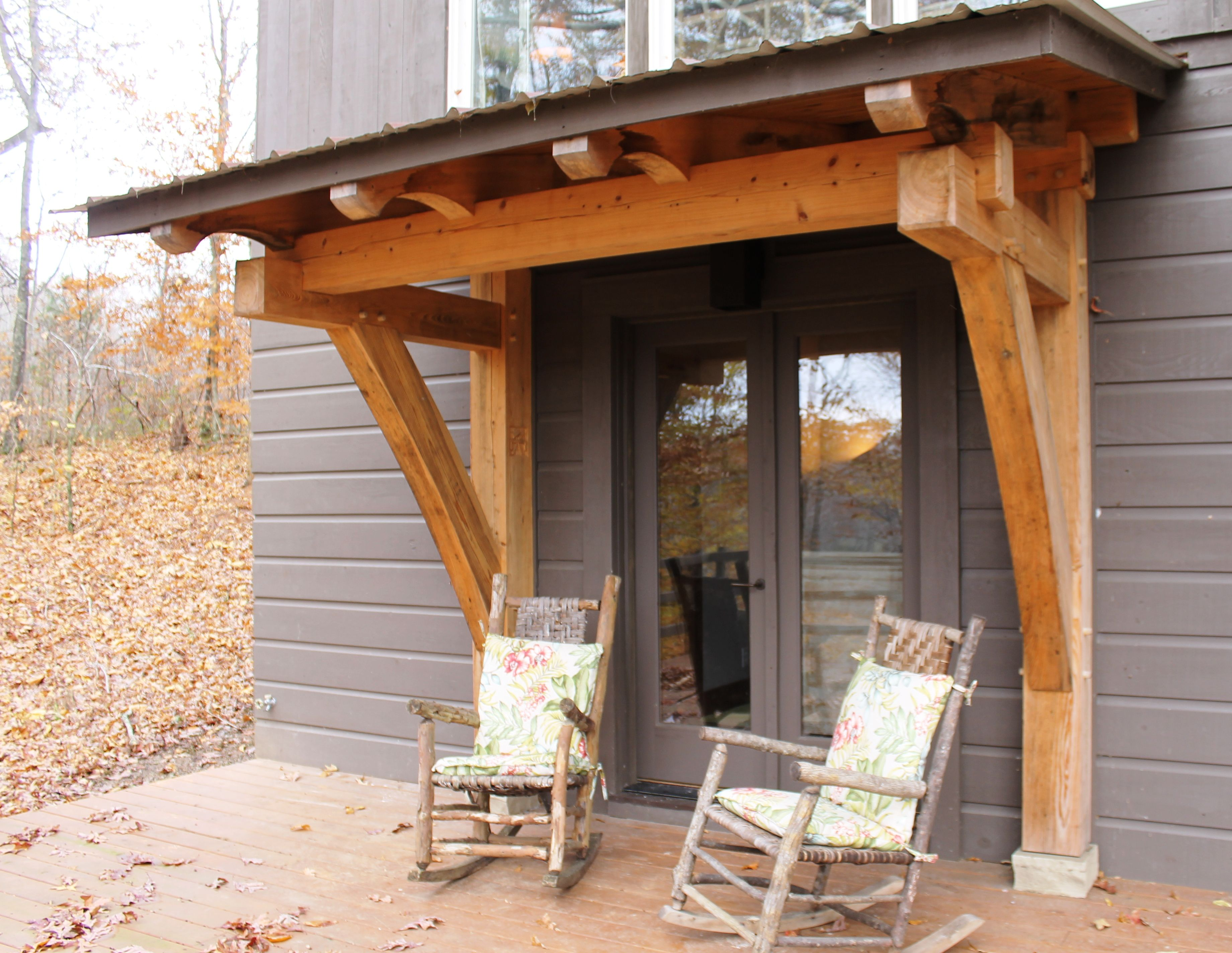 Timber Frame Porch - Heavy Timbered Homestead