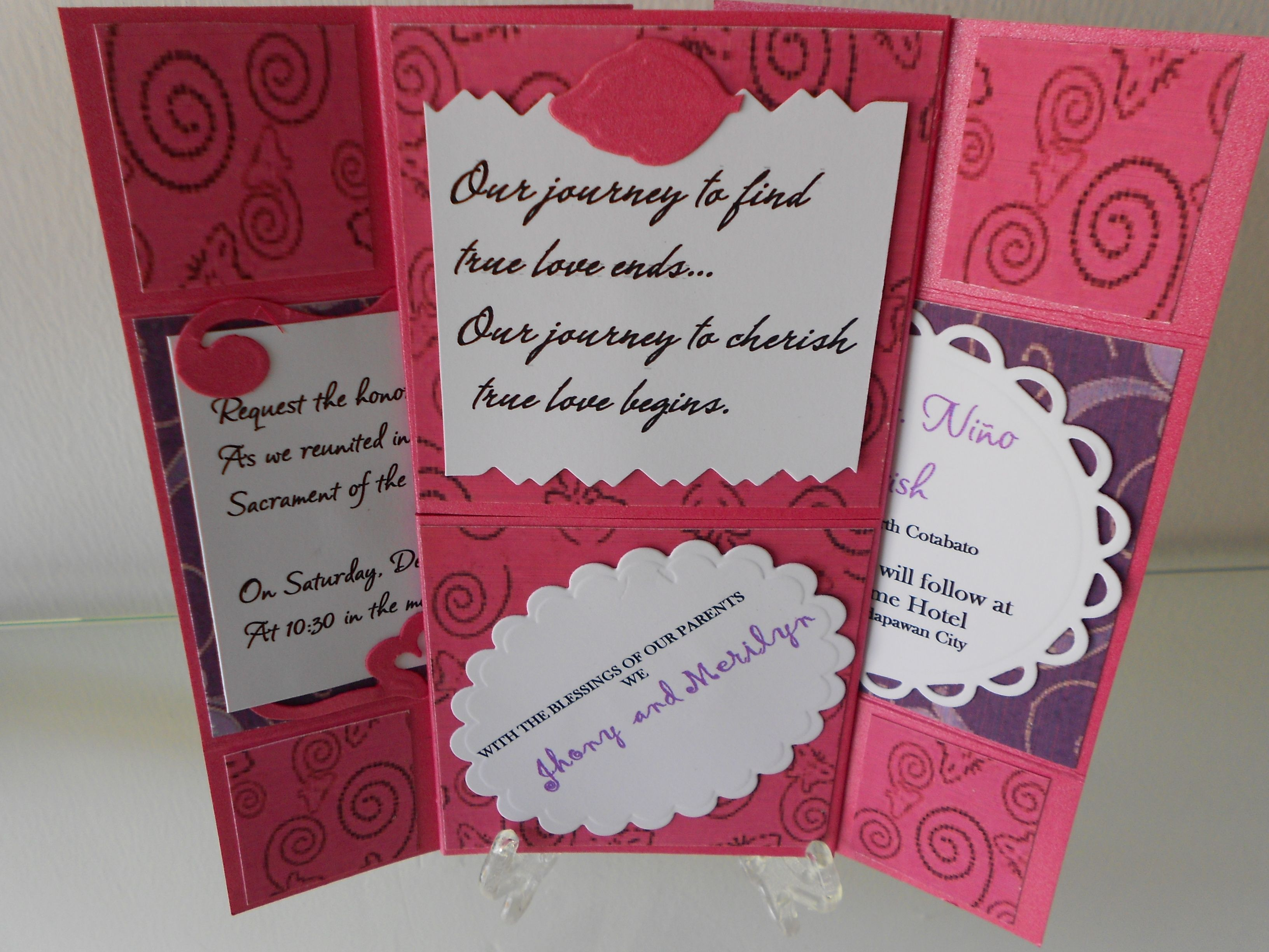 2nd Marriage Wedding Invitations: Second Page Of Johny And Merilyn's Wedding Invitation