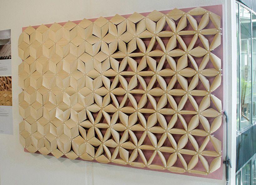 chao chen biomimetic water reaction material pine cones designboom