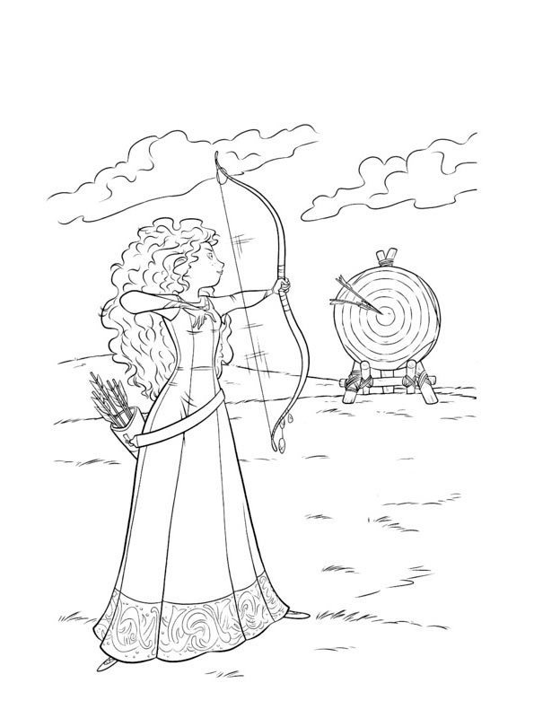 Princesa Merida Dibujos Para Colorear Bebeazul Top Disney Princess Coloring Pages Disney Coloring Pages Princess Coloring Pages