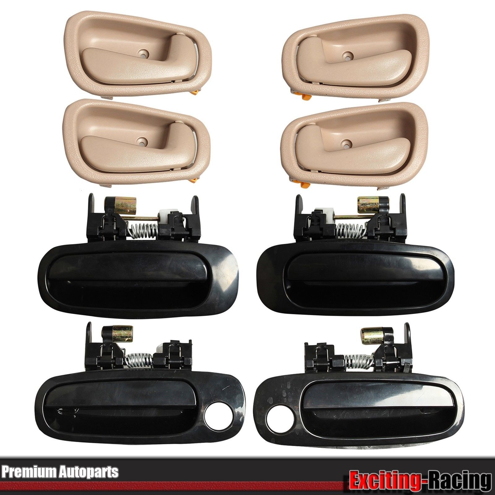 Awesome Great Black Outside Beige Inside Door Handle For 1998 2002 Toyota Corolla Set Of 8 Pcs 2018