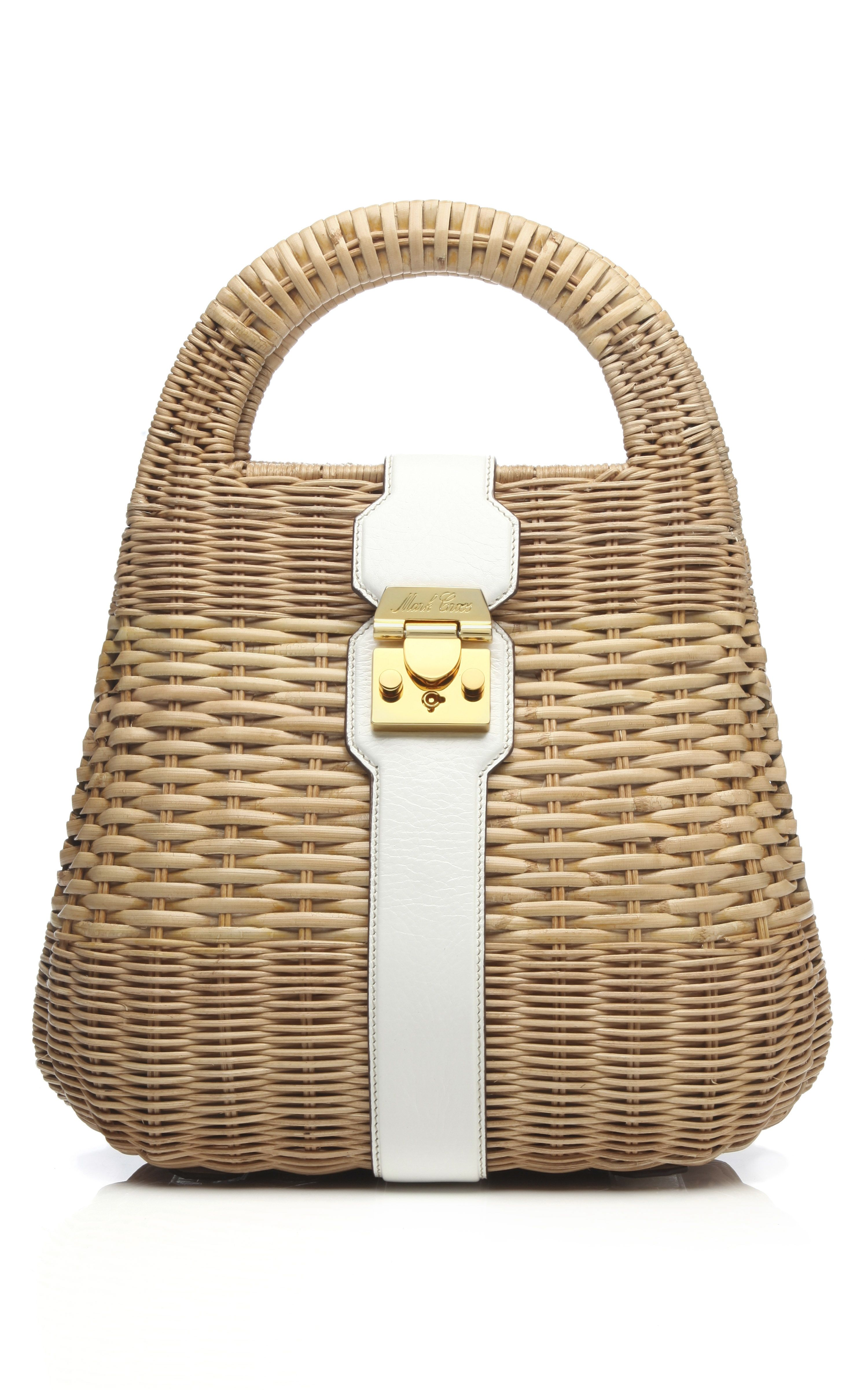 b6415bb3e Mark Cross Manray Rattan Small Satchel in White at Moda Operandi Bolsas,  Colores Blancos,