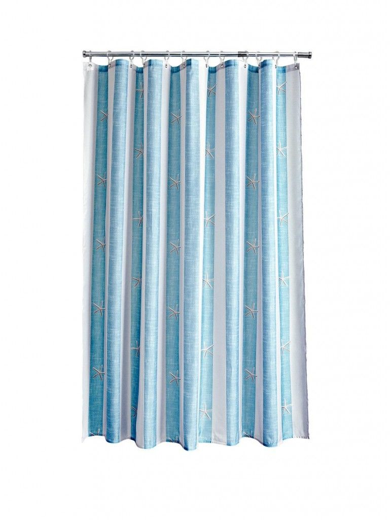 Aqualona Coastal Stripe Shower Curtain Blue Striped Shower Curtains Shower Curtain Curtains