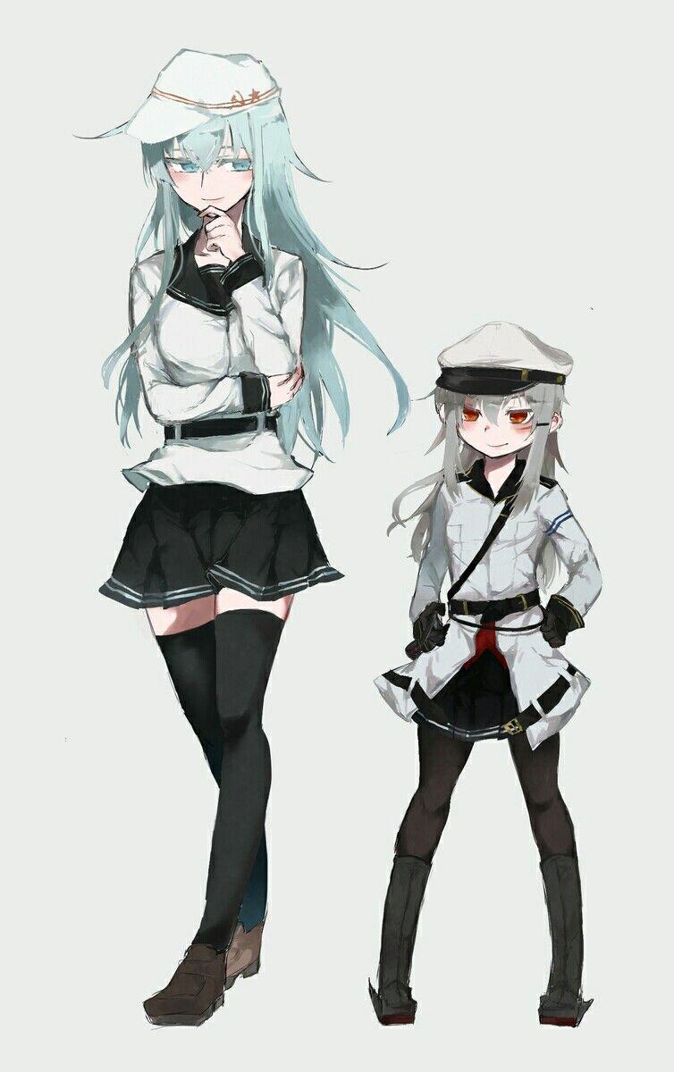 Kancolle Gangut Verniy Uniform Swap Kantai Collection Anime Military Anime