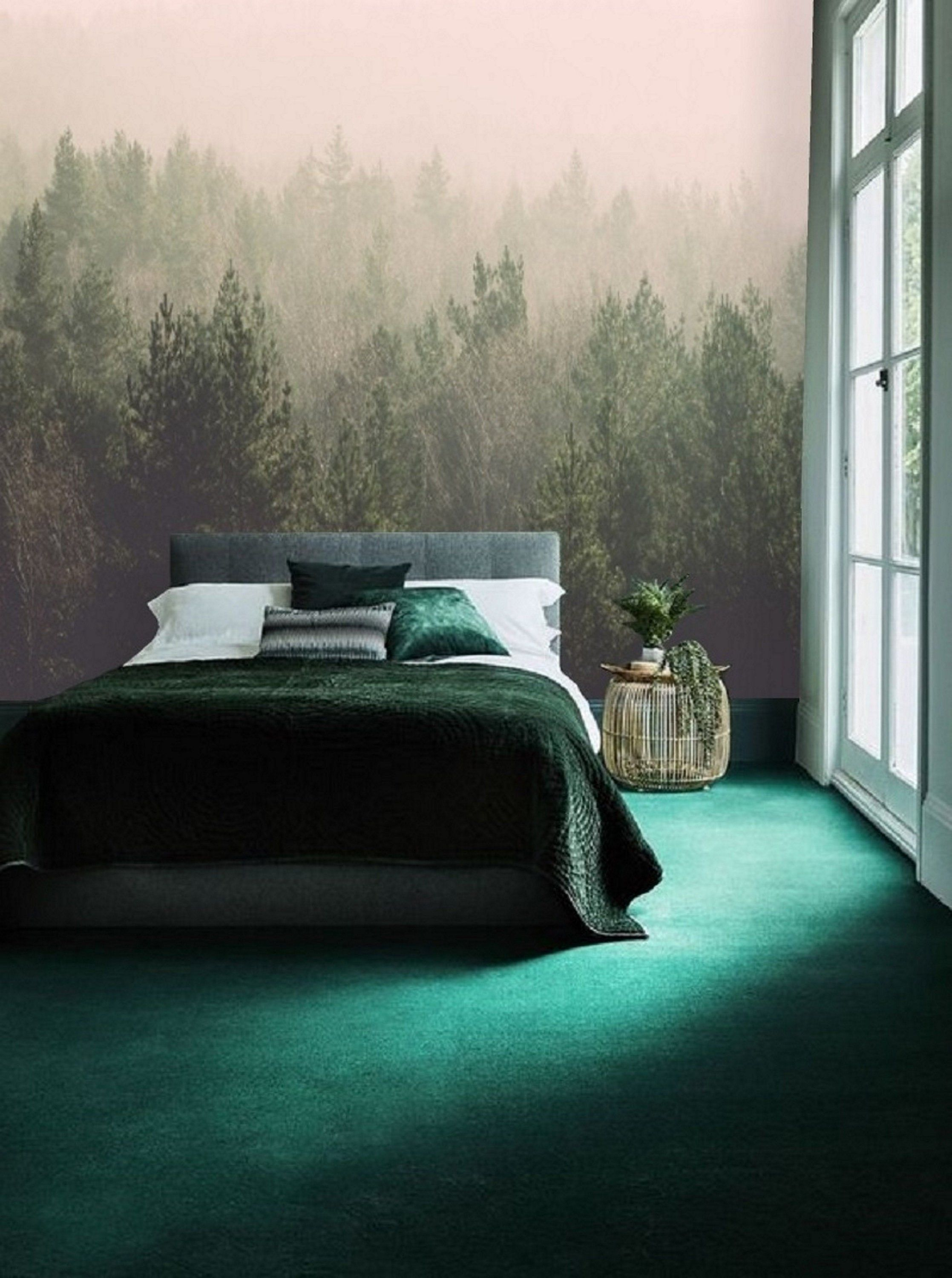Misty Forest Self Adhesive Wallpaper Peel & Stick, Mural