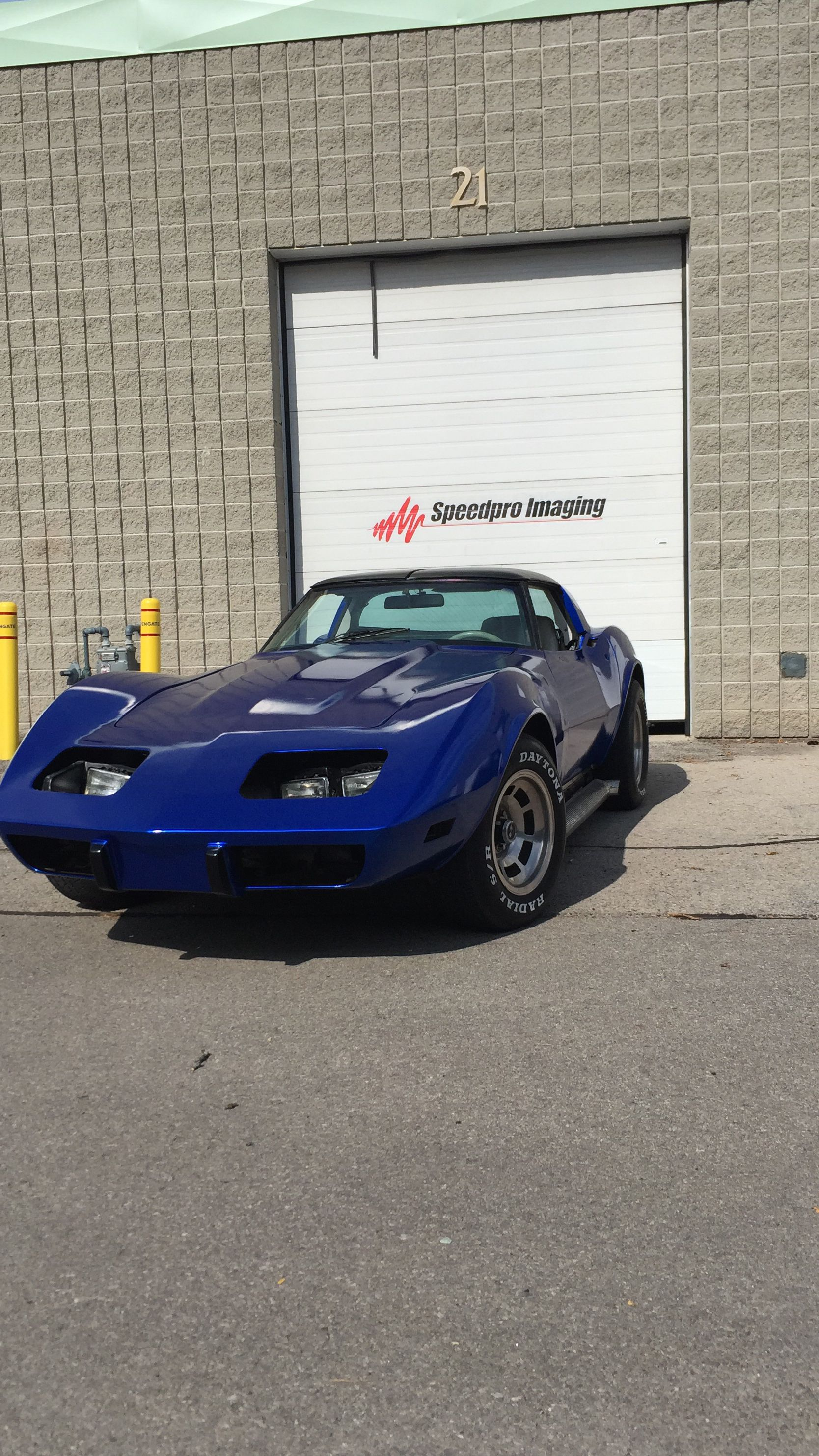 This Corvette wrap completed by Speedpro Imaging
