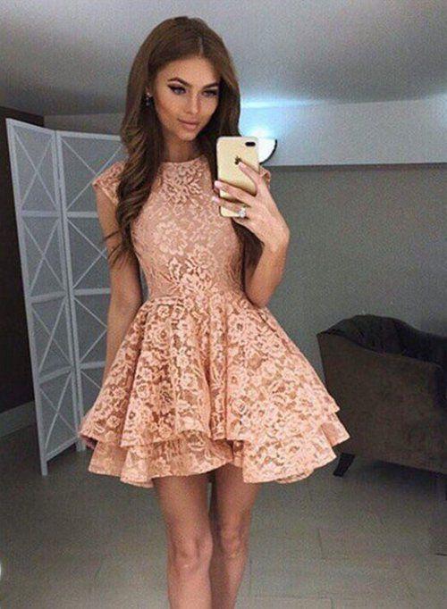 8e9231a1906 High Quality Lace Homecoming Dress