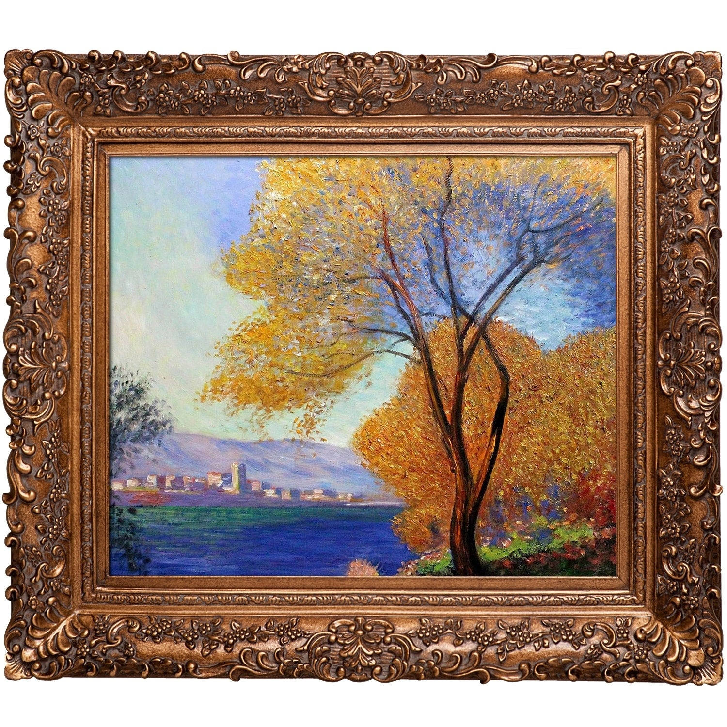 View of Salis by Claude Monet Framed Hand Painted Oil on Canvas overstockArt Antibes