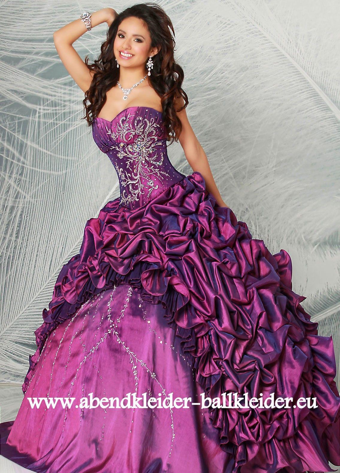 Cinderella Abendkleid Ballkleid Online in Lila  Kleider, Schöne