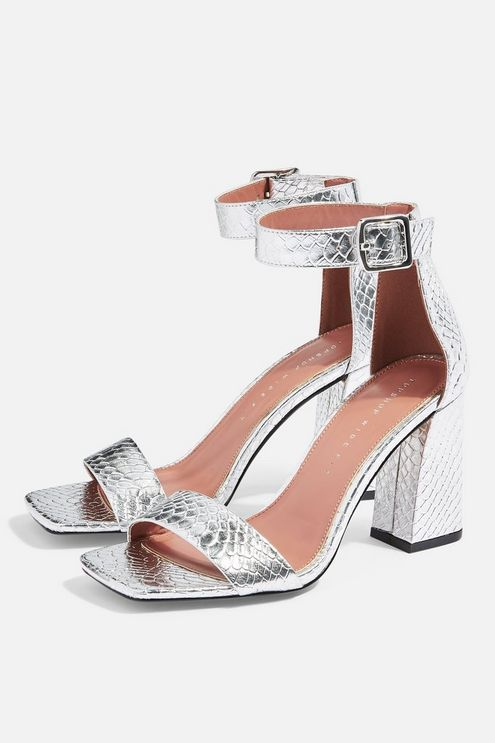Womens **Wide Fit Suki Two Part Sandals Silver in 2019