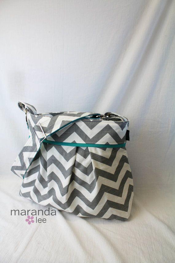 Stella+Chevron+Diaper+Bag++Large+Messenger+Bag++Gray+by+marandalee ...