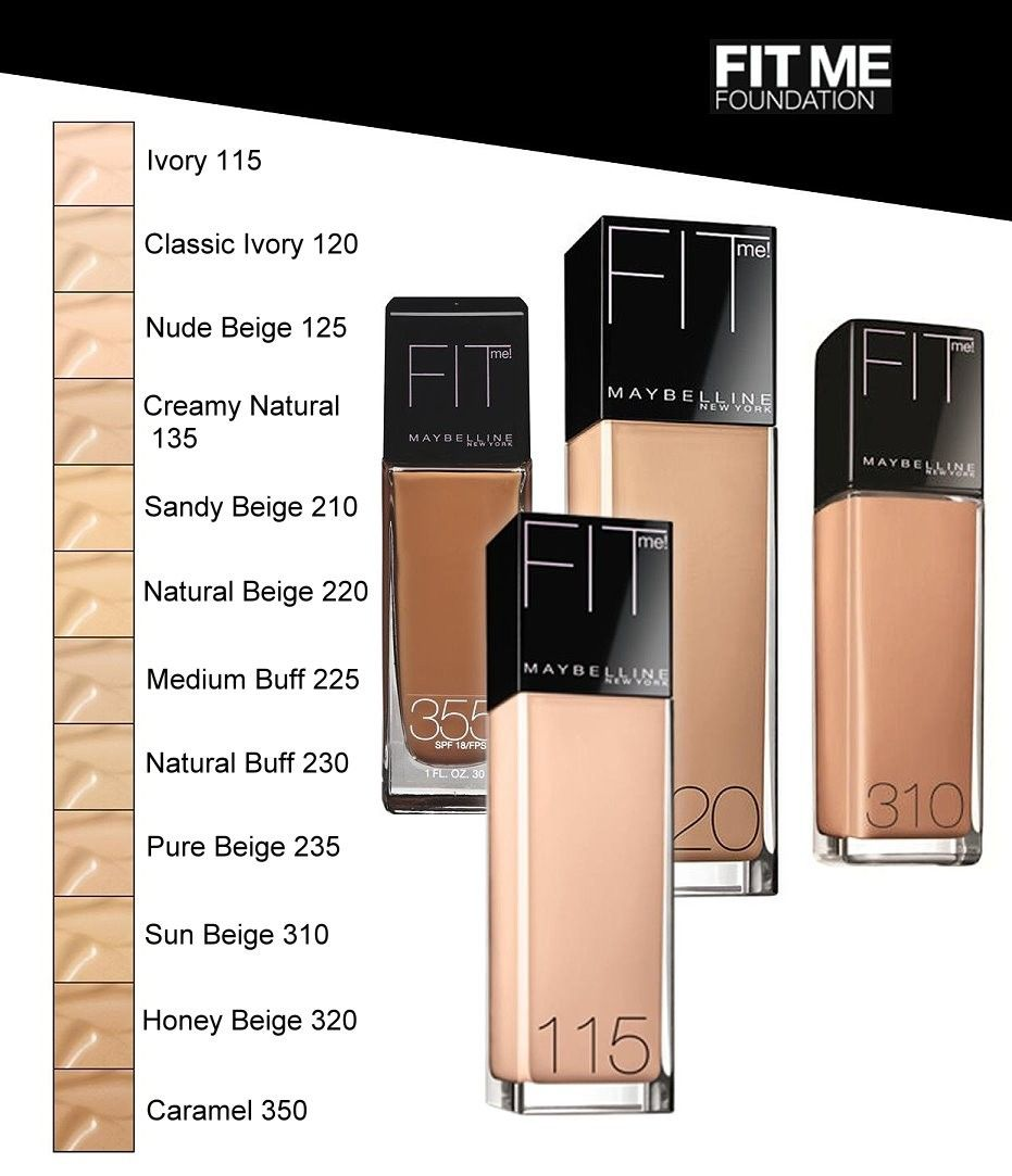 Maybelline Fit Me Foundation. Really great affordable ...