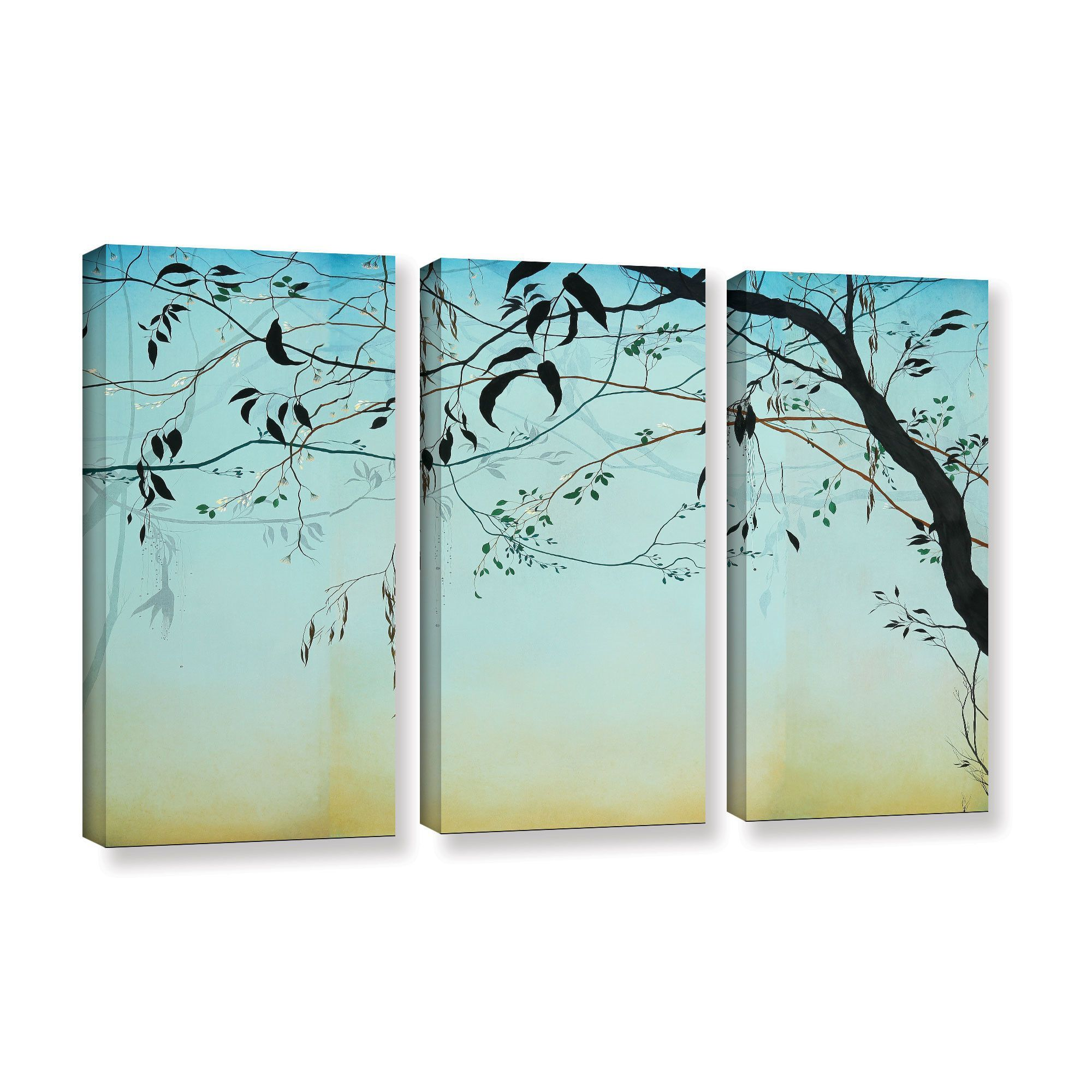 Ivy Jacobsen Blue Twilight 3 Piece Graphic Art on Wrapped Canvas