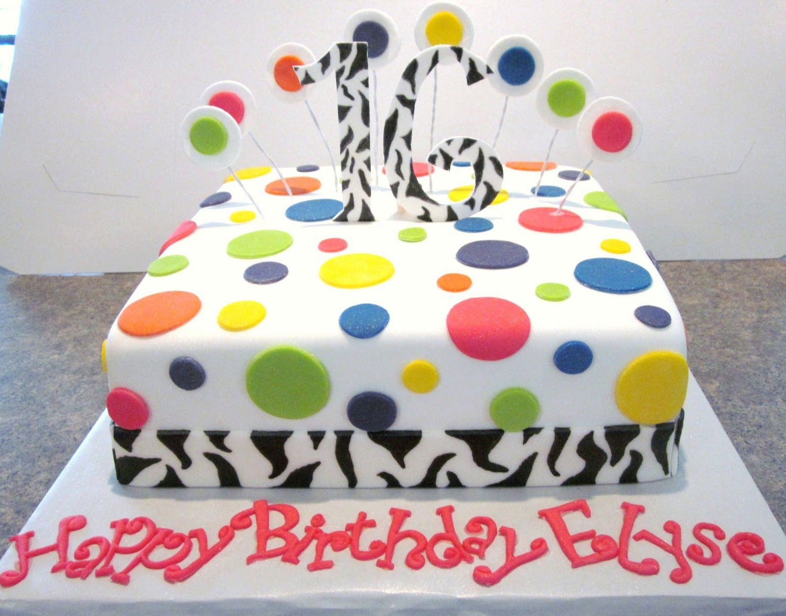 Birthday Cakes For Teens I Would Deff Change The Colors