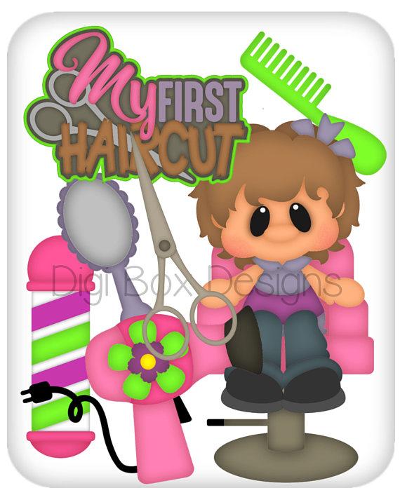 First Haircut Girl Vector Graphics Digital Clipart Digital Etsy Girl Haircuts Clip Art Digital Clip Art