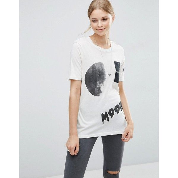 Cheap Monday Break Moon Collage T-Shirt (85 BRL) ❤ liked on Polyvore featuring tops, t-shirts, white, crew t shirts, jersey t shirt, crewneck tee, pattern t shirt and white crew t shirt