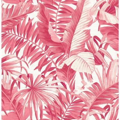 A-Street Alfresco Pink Tropical Palm Paper Strippable Roll (Covers 56.4 sq. ft.)-2969-26054 - The Home Depot