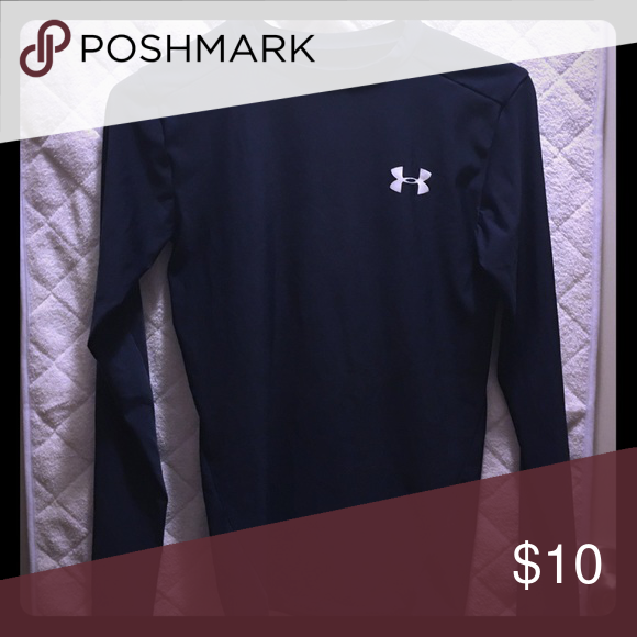 Long sleeve Great condition. Navy blue in color. Under Armour Tops Tees - Long Sleeve