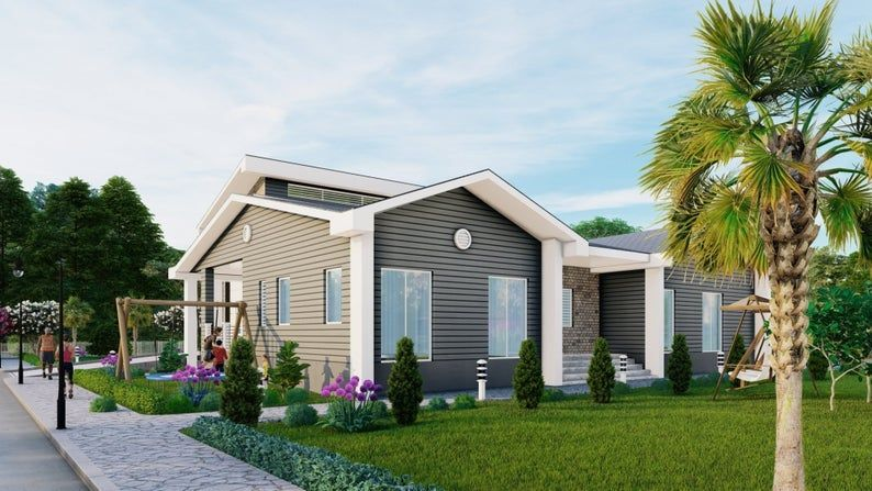 2 Bedroom House Plan with Twin car and RV Garages 3800Sqft