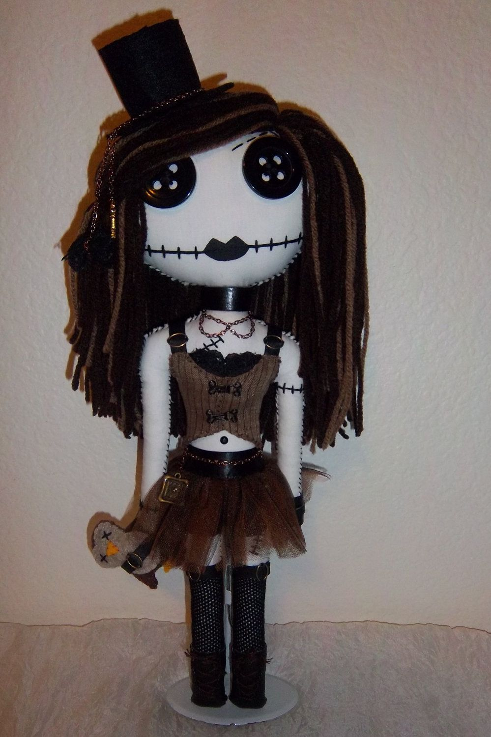 Steampunk Gothic Rag Doll On Etsy Omg I Want 50 00