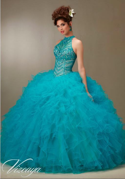 d04182bdd Vestidos de 15 Años Azul Turquesa para fiesta
