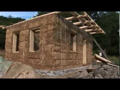 Build A Strawbale House In One Month   47 Minutes Showing Stages And  Details