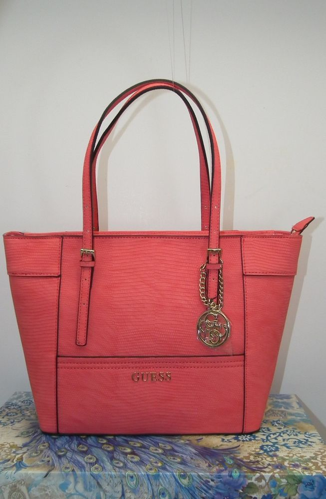 6c835ecd46b1 Guess Womens Coral Passion Delaney Medium Classic Tote 10