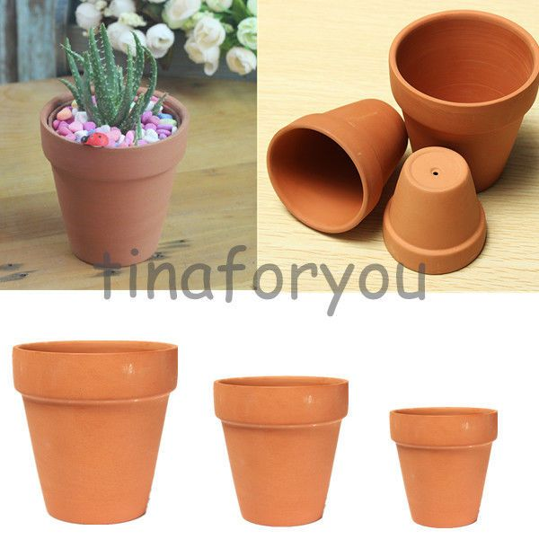 1 10 Terracotta Pot 3 Size Standard Brown Clay Small Plant Crafts Bulk Available Plant Crafts Terracotta Flower Pots Clay Flower Pots