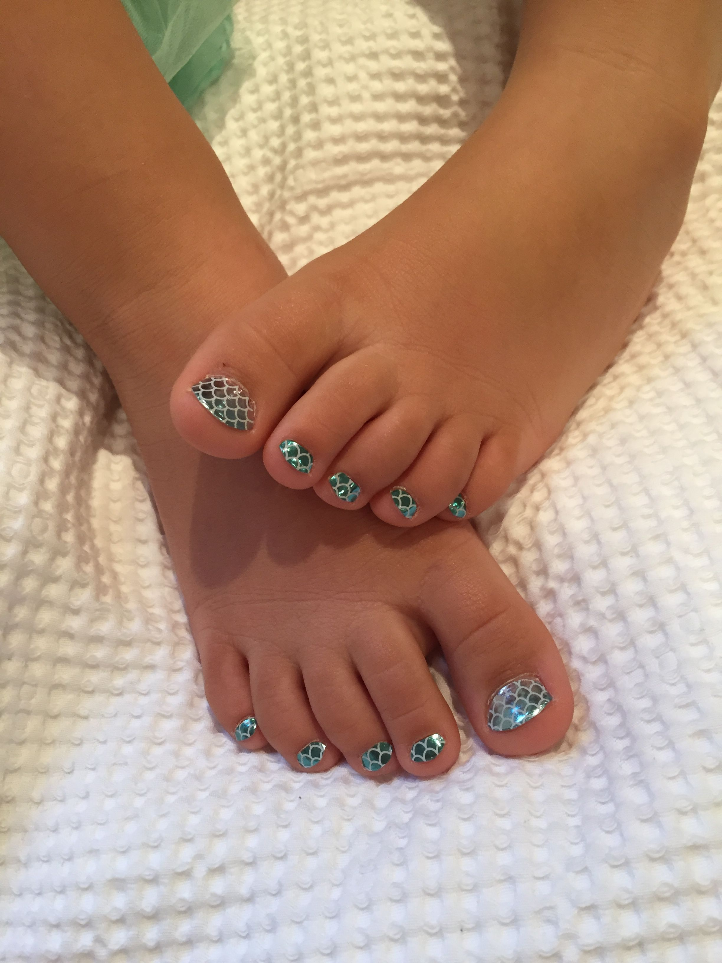 Jamberry Pedicures With My Girls - Mermaid Tales
