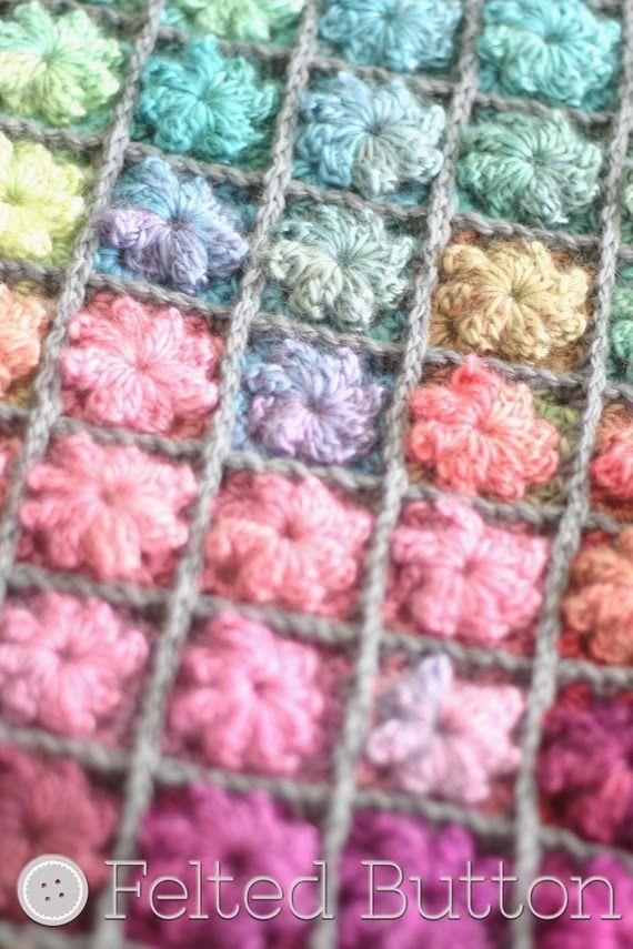 Painted Pixels Blanket Crochet Pattern   Mantas   Pinterest   Manta ...