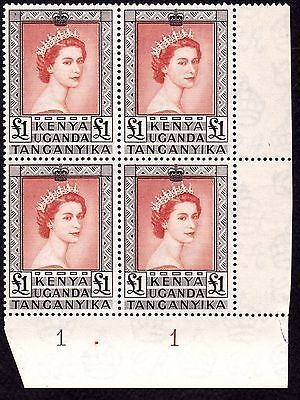KUT Kenya Uganda Tanganyika QEII 1954 1 Corner Plate Block 4 MNH SG 180 76 https://t.co/xGMf1jWU3Z https://t.co/RdwoYMXRrO