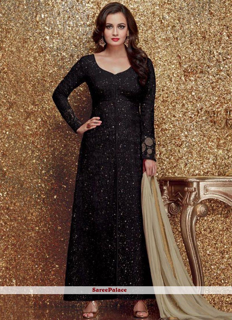 827dd5588dc Diya Mirza Black Designer Suit in 2019